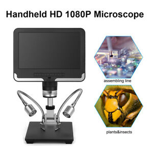 Digital AD206 7 inch HD 1080P USB Microscope 8 LED Remote Control For Repairing