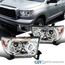 For Toyota 07-13 Tundra 08-17 Sequoia Clear Lens LED Halo Projector Headlights