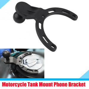 "1"" Black Gas Tank Mount Phone GPS Bracket Holder with Accessories for Motorcycle"