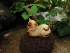 "Vintage Josef Originals Snoozy Siamese Cat Figurine W/ Label 2 1/4"""