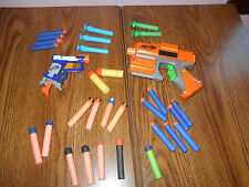 2 Nerf Guns And 29 pieces of Ammo, Euc!