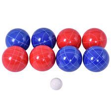 Backyard Outdoor Lawn Grass Italian Bowling Bocce Ball Set 8 Red Blue Sport Game