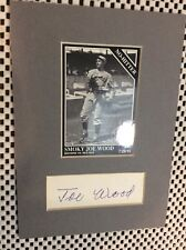 Smokey Joe Wood Boston Autograph Signed Baseball Card Cut Matted VINTAGE AUTO