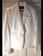 BANANA REPUBLIC WOMENS WHITE STRETCH BLAZER Size 4 (EUC)