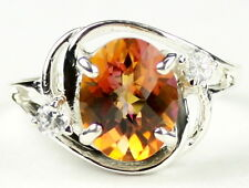 Twilight Fire Topaz, 925 Sterling Silver Ladies Ring, SR021-Handmade