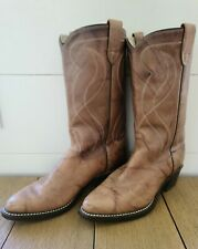 VINTAGE TEXAS BOOT COMPANY Brown Leather Cowboy Western Boots, 8.5D Style 8011