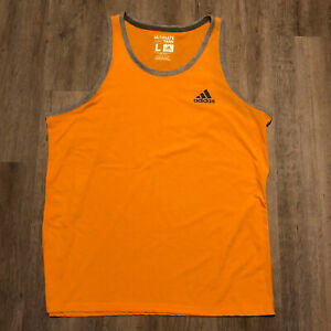 Adidas Tank Top Size Men's Large Orange Grey