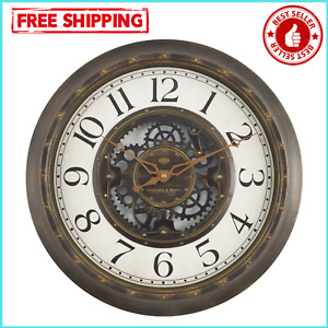 "15.5"" Aged Bronze Arabic Industrial Indoor Home Wall Decorative Gear Wall Clock"