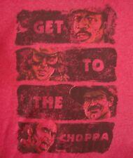 Get To The Choppa Mens XL Heather Red T-Shirt Predator NEW Nerd Block Excl