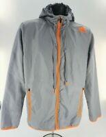 Adidas Men's Ultimate Woven Full-Zip Jacket - Size Small, Grey/Orange