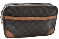 Authentic Louis Vuitton Monogram Compiegne 28 Clutch Hand Bag M51845 LV C2798