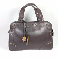 Hidesign Brown Leather Small Handbag 24cm X 17cm