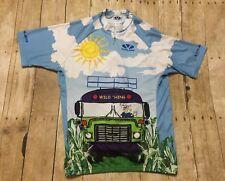 Voler Cycling Jersey XL CUSTOM Wild Thing School Bus COLORFUL Biking 3/4 Zip USA