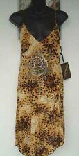 Ed Hardy Audigier Leopard Cheetah Crystal Rose Tatoo Island Cruise Dress M NWT