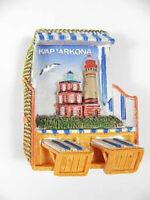 Strandkorb Magnet Kap Arkona Poly 3D,Souvenir Germany Deutschland,neu