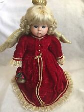 """GOEBEL Christmas Angel Doll 1994  16"""" tall Musical Melody Porcelain Numbered"""