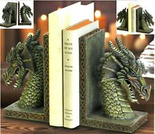 Pair * Mythical Fierce Dragon Bookends Set * Nib
