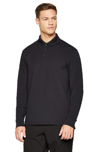 UNDER ARMOUR MEN'S TACTICAL PERFORMANCE LONG SLEEVE GOLF POLO, BLACK, LARGE