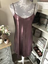 Motel Rocks Purple Metallic Slip Cami Dress Size Medium