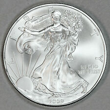 2009 UNCIRCULATED AMERICAN SILVER EAGLE, 1oz 0.999 FINE SILVER (15)