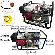 Scuba Diving Air Compressor Honda Gasoline W/15ft Hose+Regulator For Aquaculture