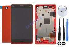KIT COMPLET VITRE TACTILE ÉCRAN LCD CHASSIS ARRIÈRE SONY XPERIA Z3 COMPACT ROUGE