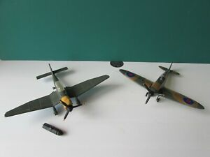 Dinky Stuka 721 Junkers JU 87 B complete with original Bomb and Spitfire 719