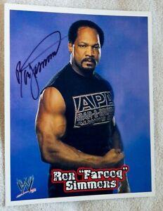 "WWF Wrestling Legend Ron ""Farooq"" Simmons Signed 8x10 Photo Auto"