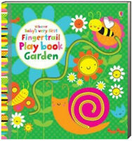 Usborne Baby's Very First Fingertrail Play Book Garden (Board Book)FREE ship $35