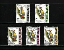 Ethiopia -- birds -- 5 diff used from 1998 -- high denominations -- cv $7.95