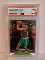 2019-20 Panini Prizm Grant Williams Boston Celtics Rookie NBA Card #267 PSA 8