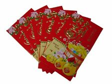 60PCS Big Chinese New Year Money Envelopes Hong Bao Red Packet With Coin Picture