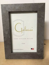 F. G. Galassi Handcrafted Fine Italian Wood Gray Granite 4x6 Frame Made Usa
