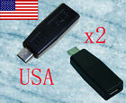 2 NEW BLACK MINI to MICRO USB CHARGER ADAPTER CONVERTER