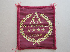 AAA 4 Star Award Under 11 Athletics Woven Cloth Patch Badge