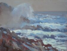 "ORIGINAL MICHAEL RICHARDSON OIL ""The Breaking Wave, Sennen, Cornwall"" PAINTING"
