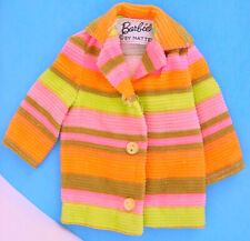 1968 MOD ERA BARBIE #1846 TRAILBLAZERS STRIPED CORDUROY JACKET EXCELLENT!