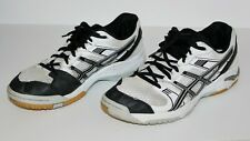 Asics Gel-1140V Non-Marking Volleyball Tennis/Racketball Shoes sz 42 Black/White