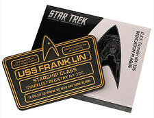 Star Trek Eaglemoss  U.S.S. Franklin NX-326 Widmungsplakette Dedication Plaque
