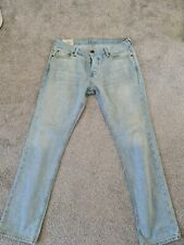 Mens Faded Denim Jeans Size 36 / 32 By Hollister