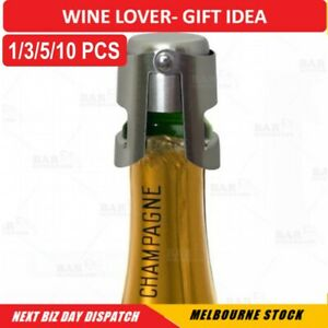Stainless Steel Sparkling Wine Stopper Champagne Stopper Bubble Fizzy Bottles