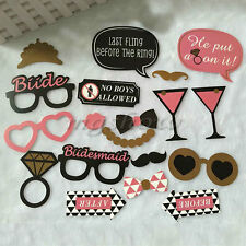 20 Hen Party Photo Props Selfie Booth kit Wedding Night Games Accessories Favors