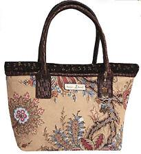Isabella's Journey Fashion Echo Faux Suede & Western Floral Charm Carpet Bag