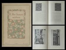 L'ART FRANCAIS MODERNE n°11 1919 - ART APPLIQUES, ALSACE LORRAINE, GALLE CAYETTE