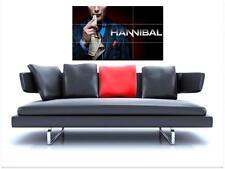 "Hannibal sin bordes de azulejo mosaico Pared Poster 35 ""X 25"" Mads Mikkelsen"