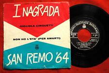 """GIGLIOLA CINQUETTI SAN REMO 1964 RARE EXYU 7"""" PS EP"""