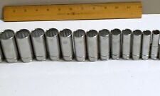 """Blue Point 3/8"""" 13 Pc Metric Deep Set 7-19mm 12 point, & Snap On Screwdriver 2"""
