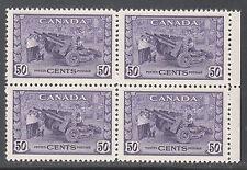 Canada 50c Munitions Block, Scott 261, VF MNH, catalogue - $300