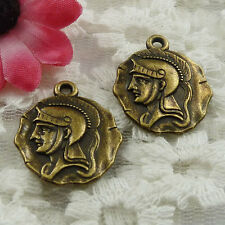 Free Ship 75 pieces bronze plated man charms 24x20mm #913