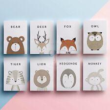 Kids Cartoon Animal Prints Wall Art Children Nursery Baby Picture Bedroom Decor